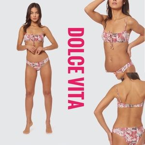 Dolce Vita Playa Trail Ruched Sinch Bottom Bikini
